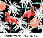 beautiful seamless vector... | Shutterstock .eps vector #787232557