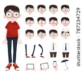 funny cartoon character. office ... | Shutterstock .eps vector #787234729