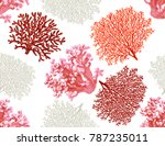 beautiful seamless vector... | Shutterstock .eps vector #787235011