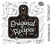 food poster print lettering.... | Shutterstock .eps vector #787236247