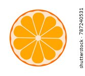 vector citrus fruit orange ... | Shutterstock .eps vector #787240531
