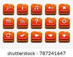 wooden square red buttons with...