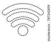 wifi signal icon in black... | Shutterstock .eps vector #787242859