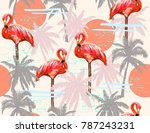 beautiful seamless vector... | Shutterstock .eps vector #787243231