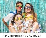 multi ethnic group of brazilian ... | Shutterstock . vector #787248319