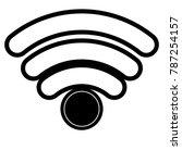 Wifi Signal Icon In Black...
