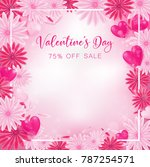 valentine floral invitation is... | Shutterstock .eps vector #787254571