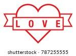 heart vector file | Shutterstock .eps vector #787255555