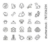 pet related icons  thin vector... | Shutterstock .eps vector #787256254