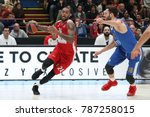 Small photo of Milan, Italy december 29 2017: MBaye Amath penetration from right angle during basketball match AX ARMANI EXCHANGE OLIMPIA MILAN vs RED STAR MTS BELGRADE; EuroLeague 2018.