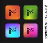 teacher teaching grammar class...   Shutterstock .eps vector #787260259