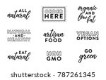 set of all natural organic food ... | Shutterstock .eps vector #787261345