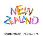 new zealand. inscription of...   Shutterstock .eps vector #787263775
