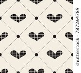 seamless monochrome valentine... | Shutterstock .eps vector #787264789