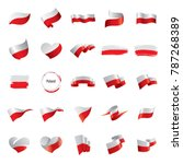 poland flag  vector illustration | Shutterstock .eps vector #787268389