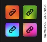 link interface symbol four... | Shutterstock .eps vector #787270561