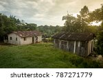 tribal village at sunset in the ... | Shutterstock . vector #787271779