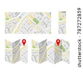 map folded and unfolded set.... | Shutterstock .eps vector #787272859
