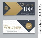 gift voucher template promotion ... | Shutterstock .eps vector #787273255