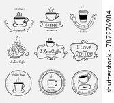 set of vintage retro coffee... | Shutterstock .eps vector #787276984