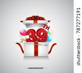 39th anniversary design with...   Shutterstock .eps vector #787277191