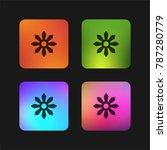 shuriken four color gradient... | Shutterstock .eps vector #787280779