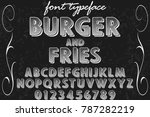 font alphabet script typeface... | Shutterstock .eps vector #787282219