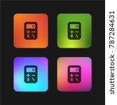 calculator four color gradient... | Shutterstock .eps vector #787284631