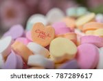 Bowl Of Valentines Heart Candy...