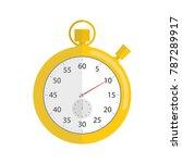 stopwatch icon. vector... | Shutterstock .eps vector #787289917