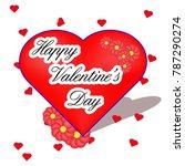 valentine's day sticker | Shutterstock .eps vector #787290274