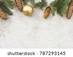 christmas decorations  pine... | Shutterstock . vector #787293145