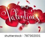 happy valentines day... | Shutterstock .eps vector #787302031
