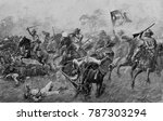 Small photo of Charge of Cuban insurgents against Spanish in the Cuban War of Independence, 1895-98. By 1897, Spain had sent 200,000 soldiers to Cuba, but was unable to defeat the revolt