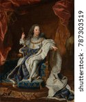 louis xv  by hyacinthe rigaud ... | Shutterstock . vector #787303519
