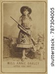 Miss Annie Oakley In 1885  The...