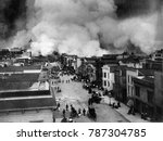san francisco burning after... | Shutterstock . vector #787304785