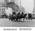 horse drawn fire engine speeds... | Shutterstock . vector #787305319