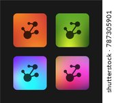 chemical bond four color... | Shutterstock .eps vector #787305901