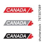 vector canada logotype | Shutterstock .eps vector #787307089