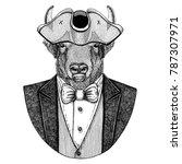 buffalo  bison ox  bull animal... | Shutterstock . vector #787307971