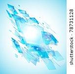 abstract design flyer for... | Shutterstock . vector #78731128