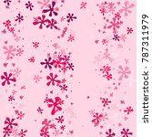 pink blots on a pink background.... | Shutterstock .eps vector #787311979