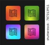 brochure folded four color... | Shutterstock .eps vector #787313911
