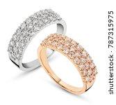 diamonds wedding eternity band... | Shutterstock . vector #787315975