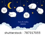 eid al adha festival background ... | Shutterstock .eps vector #787317055