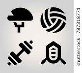 sport vector icon set. ball ... | Shutterstock .eps vector #787318771