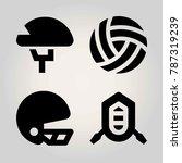 sport vector icon set. helmet ... | Shutterstock .eps vector #787319239