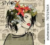 art colorful sketched beautiful ... | Shutterstock . vector #787319614