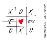 tic tac toe game with criss... | Shutterstock .eps vector #787322809